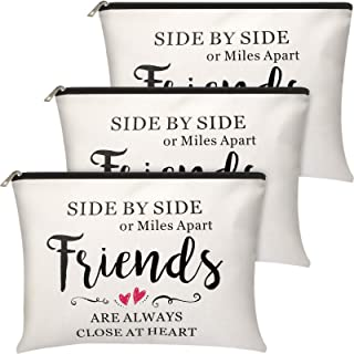 3 Pieces Good Friend Gifts Cosmetic Bag for Women, Funny Long Distance Friendship, Birthday, Moving Away, Christmas Gifts ...