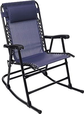 Amazon Basics Foldable Rocking Chair - Blue