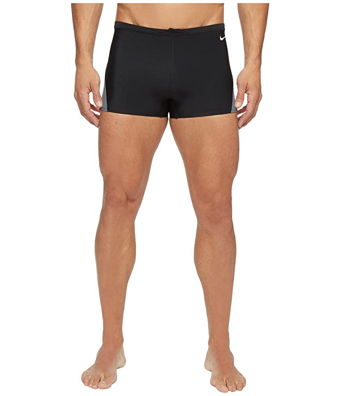 Nike Surge Color Block Poly Square Leg Brief (Black) Men