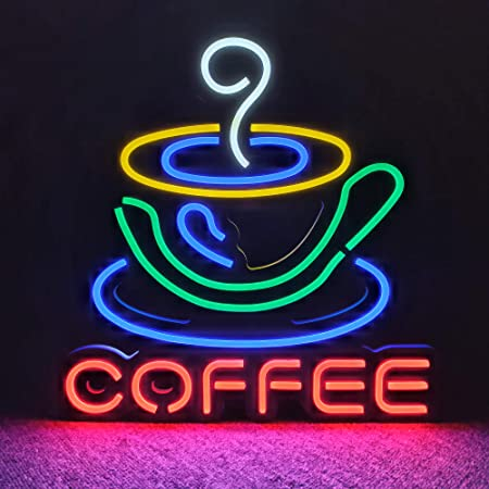 "COFFEE Organic Neon Lamp Sign 17/""x14/"" Bar Light Glass Artwork Decor Windows"