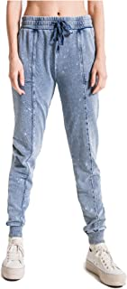 Z Supply Clothing Women's Knit Denim Bleach Jogger