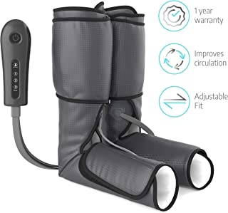 Sedona Leg Massager Circulation Device - Rechargeable Foot Sequential Air Compression Machine, Calf Neuropathy Massage for Home Use for Calves, Legs, Ankles and Feet for Vein Support - Black