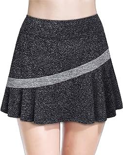 MOQIVGI Women Pleated Tennis Skirts Inner Shorts Athletic Sports Golf Running Skorts with Pockets