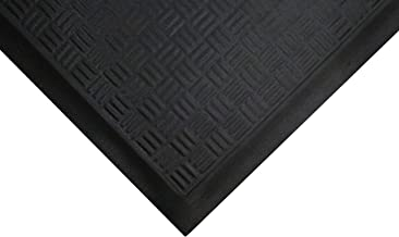 Cushion Station | Commercial-Grade Anti-Fatigue Mat - Slip Resistant, Antimicrobial, Grease and Oil Proof, Chemical Resistant, Welding Safe (Black 2' x 3.2')