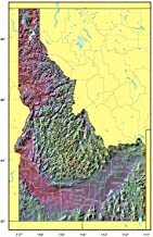 Home Comforts Detailed Relief map of Idaho State Vivid Imagery Laminated Poster Print 24 x 36