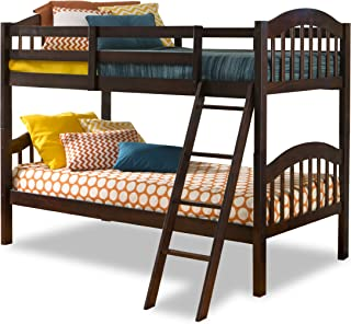 Storkcraft Long Horn Solid Hardwood Twin Bunk Bed, Espresso