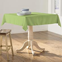 LA Linen Polyester Poplin Square Tablecloth, 58 by 58-Inch, Sage