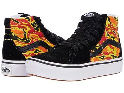 Vans Kids ComfyCush SK8-Hi (Little Kid) ((Flame Camo) Black/True White) Boys Shoes