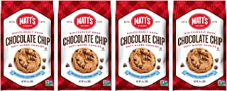 Matt's Cookies Chocolate Chip Soft-Baked Cookies, All Natural Ingredients, Non GMO, 14 oz Bag, 4 Count