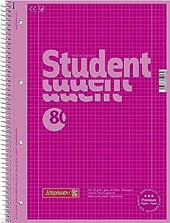 Brunnen 1067928126 Notizblock / Collegeblock Student Colour Code (A4 kariert, Lineatur 28, 90 g/m², 80 Blatt pink
