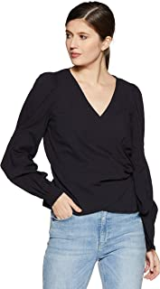 VERO MODA Women's Plain Regular Fit Top