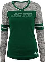 NFL Junior Girls Secret Fan Long Sleeve Football Tee, New York Jets, Hunter, L(11-13)