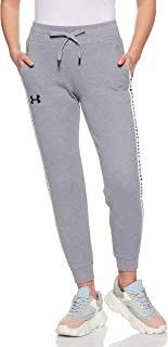 Under Armour Women's Originators Fleece Jogger Pants, Grey (Steel Light Heather/Black), Small