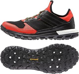 adidas Women's Response Trail Boost Hiking Shoe,Solar Red/Black/Solar Yellow,US