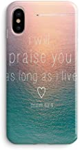 iPhone XR Cute Case for Girls,Women Bible Verses Quote Christian Inspirational Motivational Psalm 63:4 Sunset Ocean I Will Parise You Soft Clear Side Case Compatible for iPhone XR