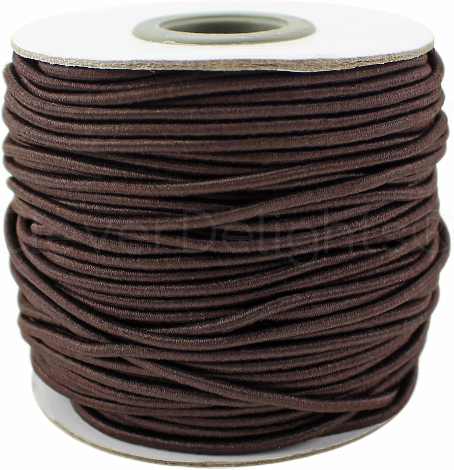 CleverDelights Max 44% OFF Brown Fabric Elastic New color Cord 2mm - 10 Yards Craf