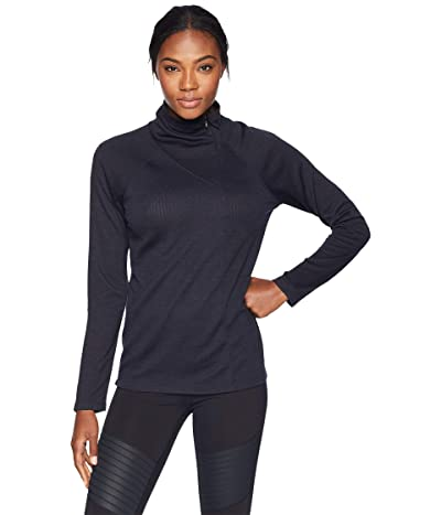 NAU Long Sleeve Randygoat Lite Zip Neck (Caviar) Women