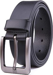 """Men's 100% Italian Genuine Leather Dress Casual Belts, Handmade, 1.5"""" (3.8CM) Width Strap"""