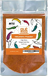 Habanero Chile Powder 4 oz - Ground Chili Peppers All Natural No Salt Added Great For Mexican Recipes, 4 oz Total Weight b...