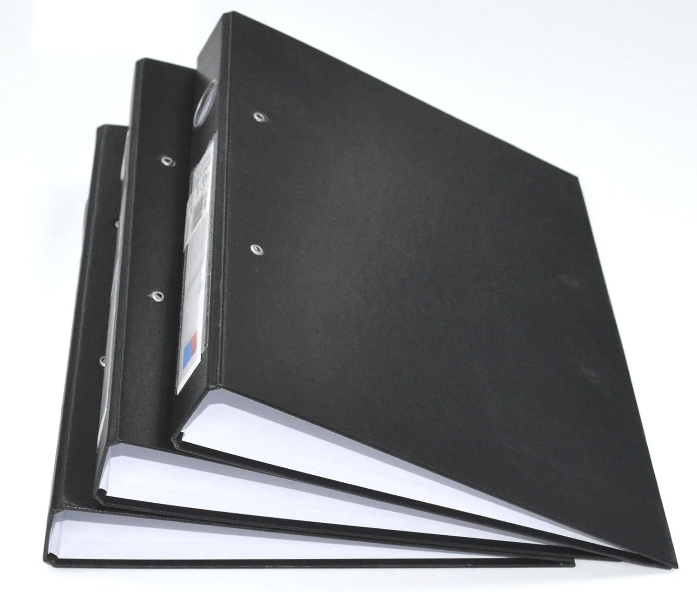 Cartella Portafoglio 2 Anelli con Rotella 25MM Cartella Porta File per Ufficio CASA E Uso Scuola Pacchetto di 3, Nero A4 Ring Binder