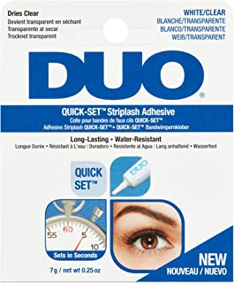 DUO Striplash Eyelash Glue Clear (7g/0.25 oz) New Improved EU Formulation - False Lash Glue for all Ardell Eyelashes - Quick Set Formula