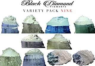Ghost Series Variety Pack 9 (10 Colors) Mica Powder (Epoxy,Slime,Color,Art) Black Diamond Pigments