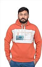 Protonze Slim fit Full Sleeve Clothing Men's Cotton Hooded Sweatshirt Winter Hoodie/Graphic Printed Hoodie/Hoodie for Men & Women/Warm Hoodie/Unisex Hoodie Orange