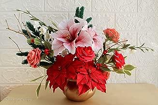 Centro de mesa navideño - Centro de mesa con flores de pascua ...