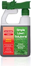 Simple Lawn Solutions Extreme Grass Growth Lawn Booster- Quality Liquid Spray Concentrated Fertilizer with Fulvic & Humic ...