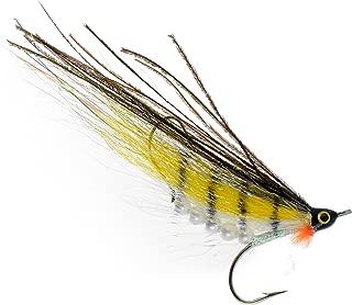 PEETZ Yellow Perch 4-Inch Pro Grade McFly Fly Fishing Lure | Deceiver Streamer Bucktail Clouser Wet Freshwater Saltwater | Pike Bass Perch Walleye Salmon Trout Dorado Tarpin Bonefish
