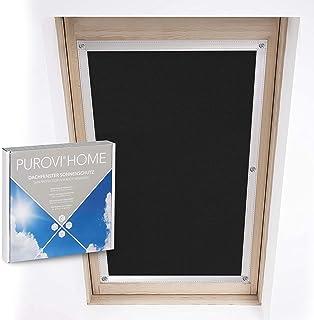 Purovi® Protección Solar térmica para Ventanas detecho   Protección térmica para Interiores   sin taladrar y sin Pegamento   para Ventanas Velux + Roto   Tamaño seleccionado: Roto 7/14-52 x 118 cm