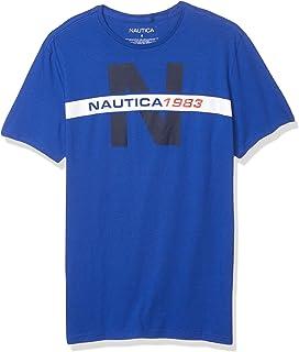 Nautica Men's Short Sleeve 100% Cotton Nautical Series Graphic Tee