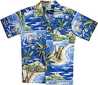 RJC Boy's Tropical Fish Island Surf Hawaiian Shirt