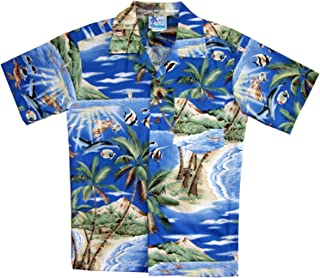 RJC Boy's Tropical Fish Island Surf Hawaiian Shirt