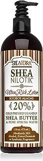 Shea Terra Organics Nilotik' Shea Butter Ultra-Rich Lotion – Rooibos Almond | Natural Daily Moisturizer High in Minerals t...