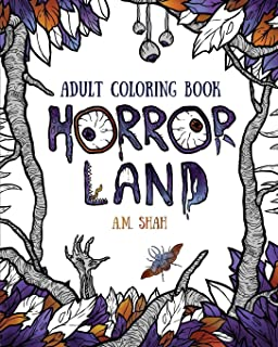 Adult coloring book: Horror Land