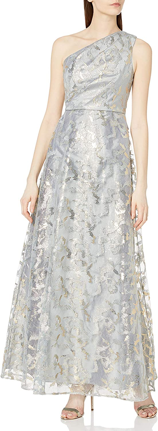 Adrianna Papell Women's One Shoulder Gown