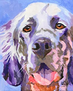 "English Setter Art Print | English Setter Gifts | From Original Painting by Ron Krajewski | Hand Signed in 8x10"" and 11x14"" Sizes"
