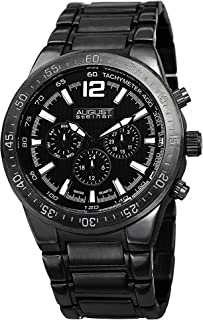 August Steiner Men's Analog Display Swiss Quartz Silver Watch