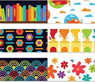 Sproutbrite Bulletin Board Borders - Classroom Decorations - 75 ft - 3 Double Sided Trimmers, Back to School, Growth Mindset Theme Decorative Border Trimmers