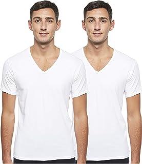 Calvin Klein mens 2P S/S V Neck T-Shirt (2-Pack)