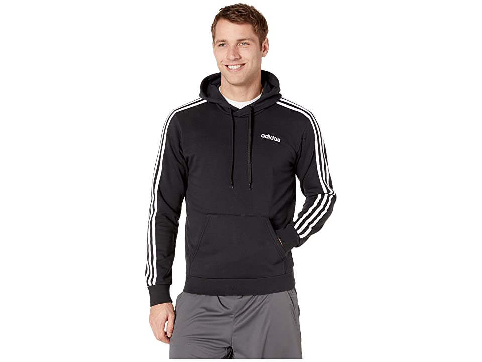 adidas Essentials 3-Stripes Pullover French Terry (Black/White) Men
