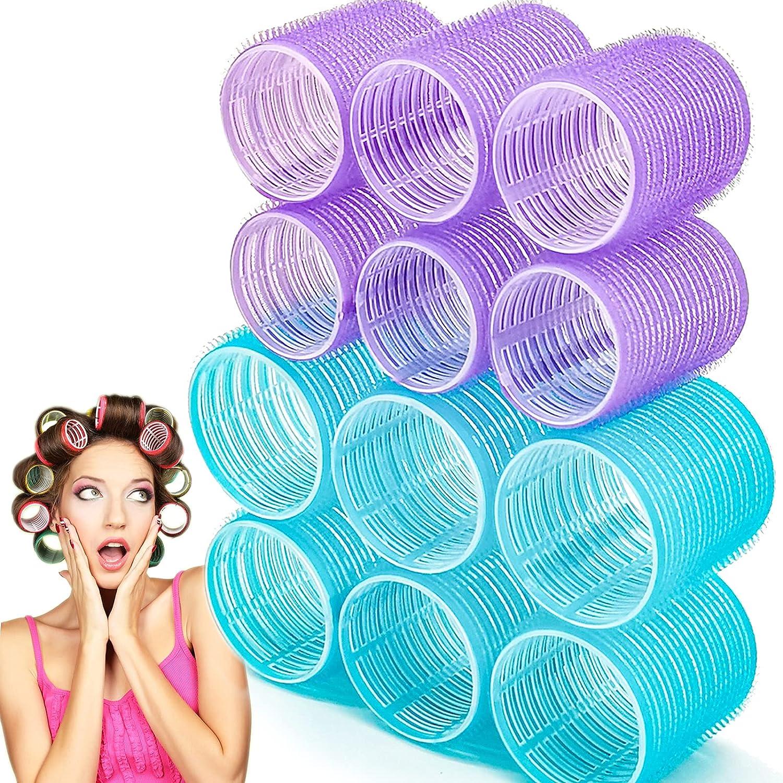Jumbo Hair Rollers Sets 12 Pcs Cu Cheap sale Grip Dressing Challenge the lowest price Self Salon