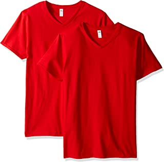 تي شيرت رجالي برقبة على شكل حرف V من فروت أوف ذا لوم (قطعتان) -  Fruit of the Loom V-neck T-shirt (2 Pack) X-Large