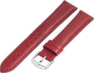 Hadley-Roma MS2045RC 180 18mm Leather Calfskin Red Watch Strap