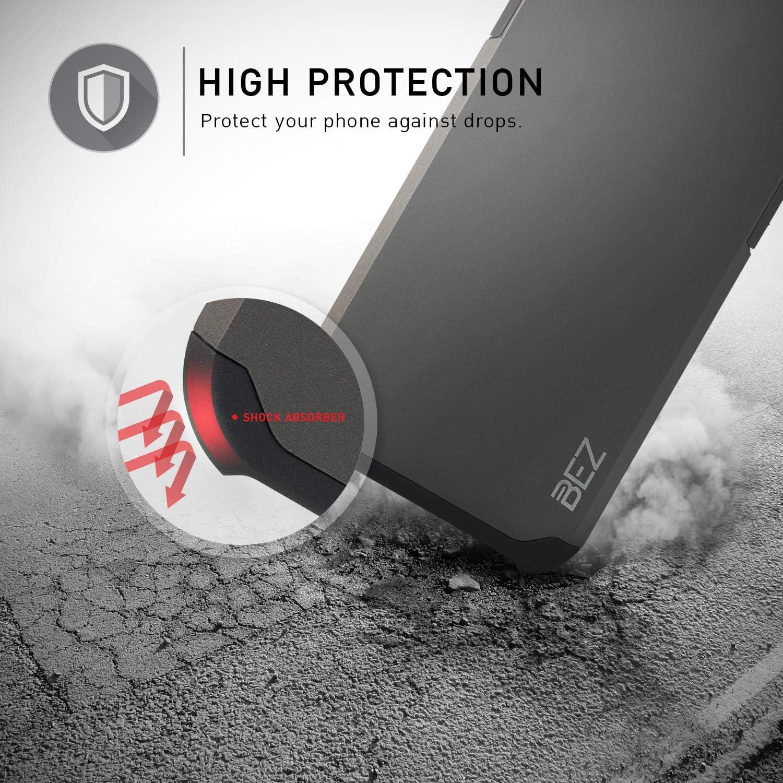Negro Carcasa Protectora para Samsung Galaxy A21s Antideslizante H/íbrida Gota Protecci/ón BEZ Funda Samsung A21s Cover Anti-Ara/ñazos con Absorci/ón de Choque Resistente