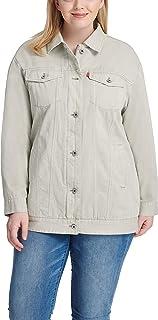 Levi's Women's Plus Size Oversized Long Cotton Trucker Jacket