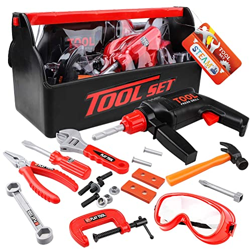 It Your Self Set Toy Gift Kids Power Tool Kit Toy Real Working Function Do
