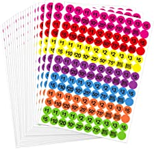 Neon Colors Prepriced Garage Sales Stickers, Pricing Labels, Sale Labels (Style A)