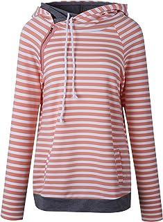7TECH Striped Panel Hoodie Sweater, Orange